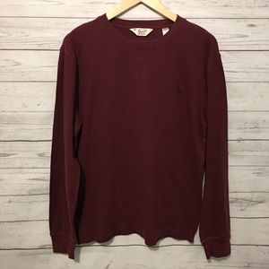 Original Penguin Burgundy Long Sleeve Shirt XL